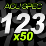 14cm (140mm) Race Numbers ACU SPEC - 50 pack